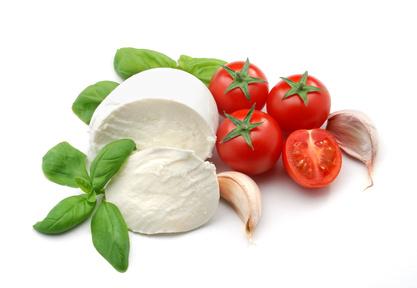 Mozzarella tomate basilic