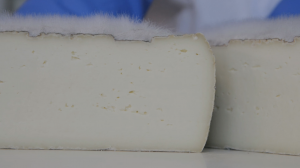 Fromage coupé moisissure