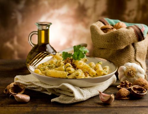 Tortiglioni à la farine de sarrasin Bio au pesto de noix