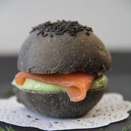 burger noir de seiche