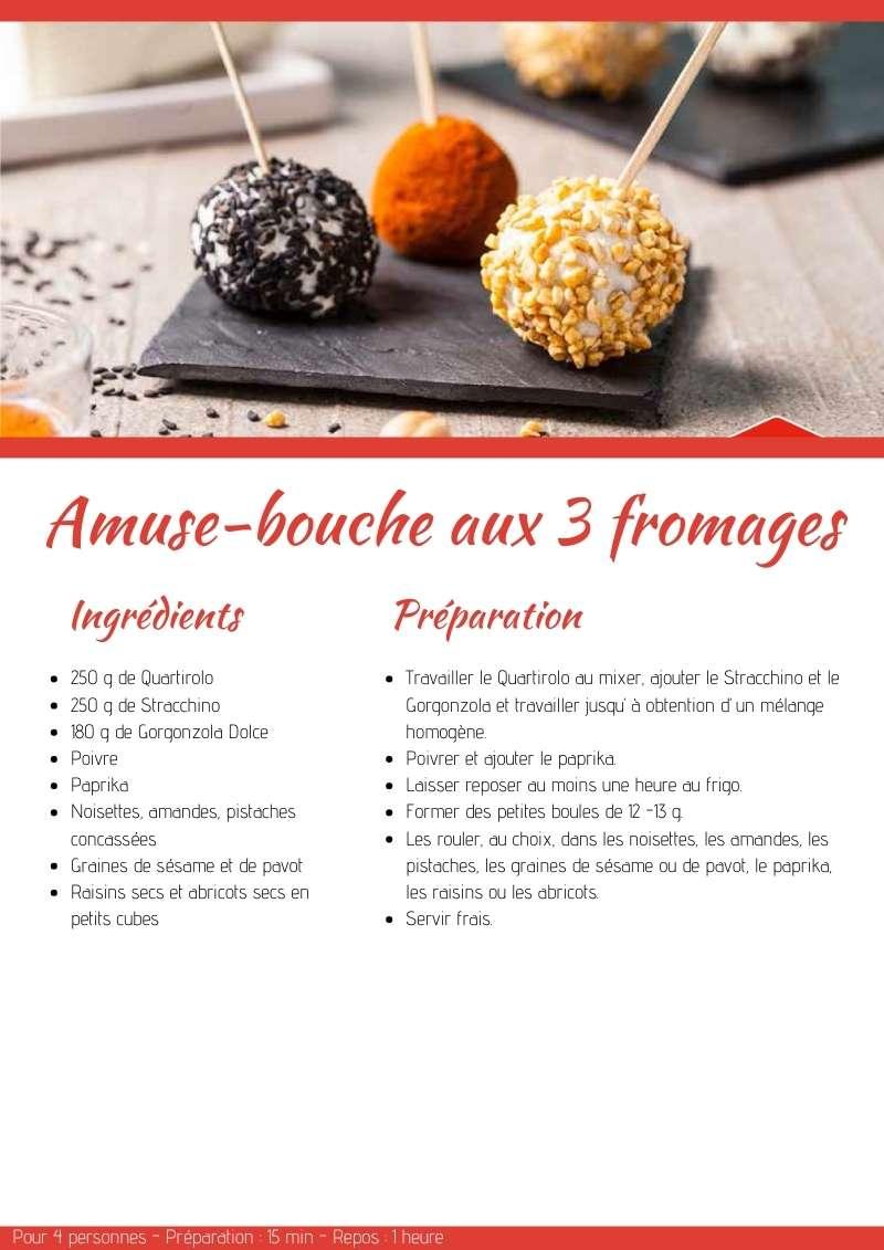 Amuse-bouche aux 3 fromages