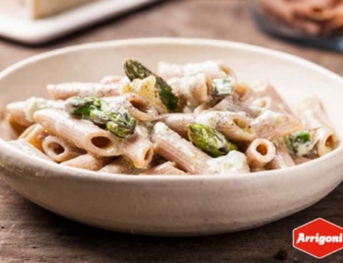 Penne gorgonzola et asperges