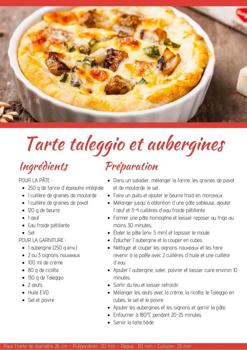 Tarte taleggio et aubergines